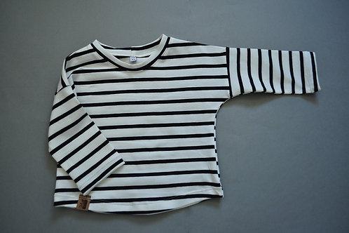 """Shirt aus Bio-Jersey """"Ringel s/w"""""""
