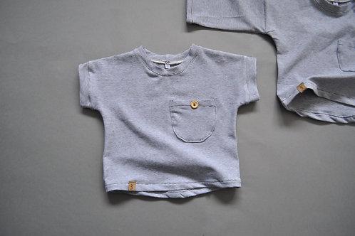 """T-Shirt aus Bio-Jersey mit Brusttasche """"feine Ringel s/w"""""""
