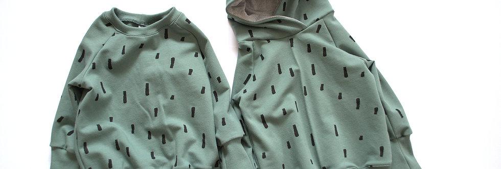 """Raglan-Sweatshirt mit oder ohne Kapuze """"swipes"""""""