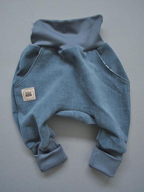 """Knickerbocker aus Cord """"grau/blau"""""""