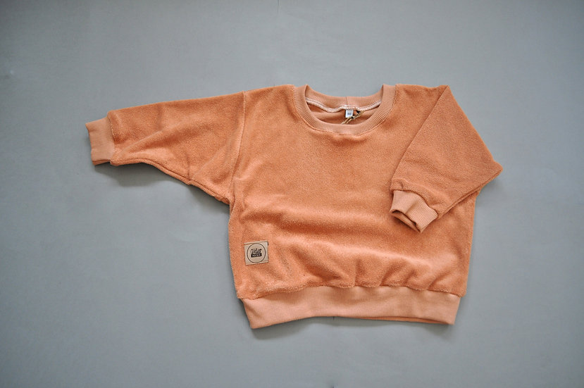 "oversized Shirt aus Frotteestoff ""camel"""