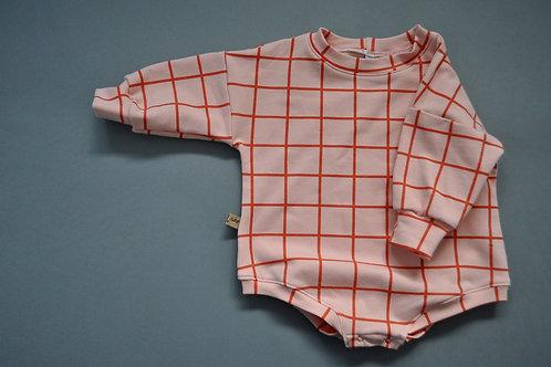 "oversized Baby-Body aus Sweat ""Grid"""