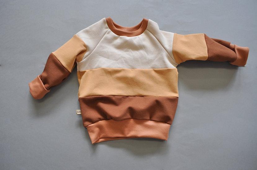 "Colorblocked-Sweatshirt ""braun/beige Töne"""