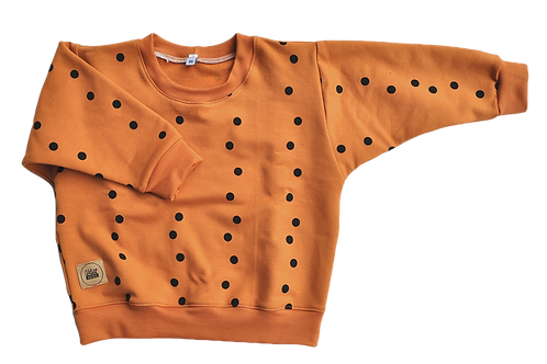 "oversized Sweatshirt ""caramel Punkte"""