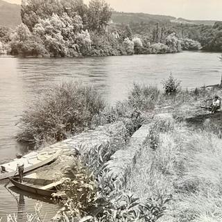 La cale d'Envaux en 1968