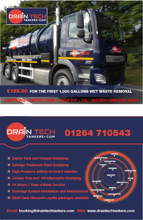 Multi-Tank Discount Waste Removal Packages - call 01264 710543 or email to discuss