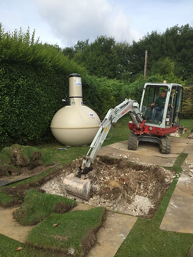 Clanville Draintech septic tank installation