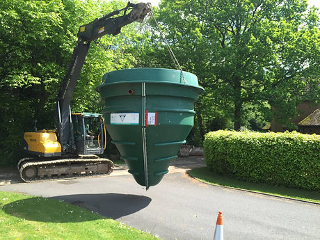 WPL domestic treatment plant installation and groundworks