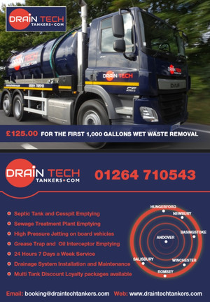Draintech Tankers - New Website