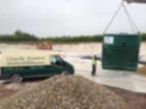 Commercial installation of treatment plant at Stone Circle factory in Newbury