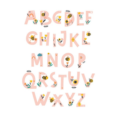Alphabet digital download/nursery print/personalised download