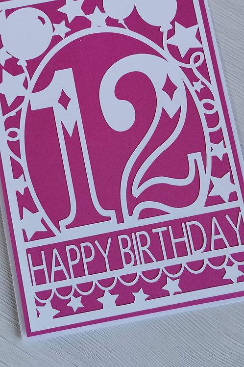 Any age Birthday cards