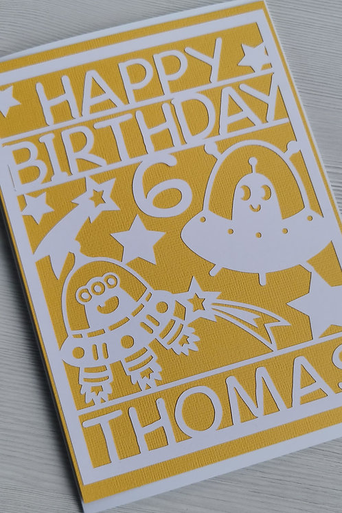 Yellow alien card