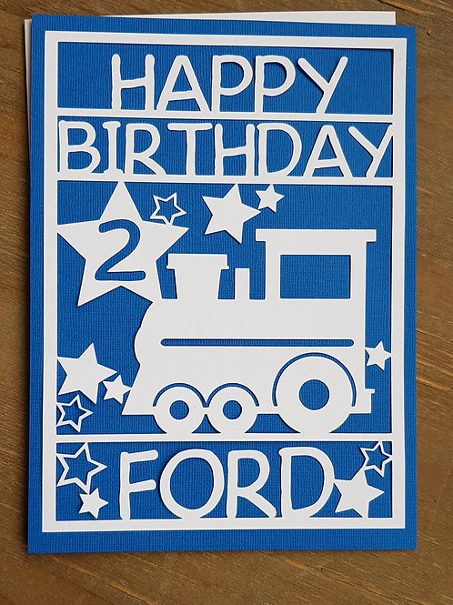 Personalised Train Birthday Card