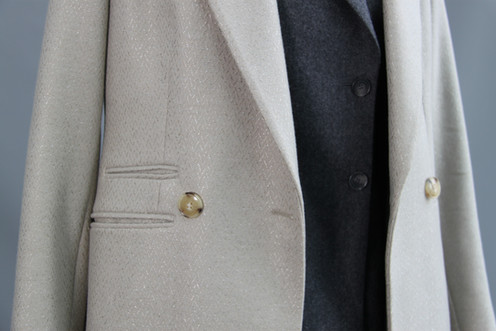 G&G Herringbone Coat, over the top of G&G Cashmere Blazer