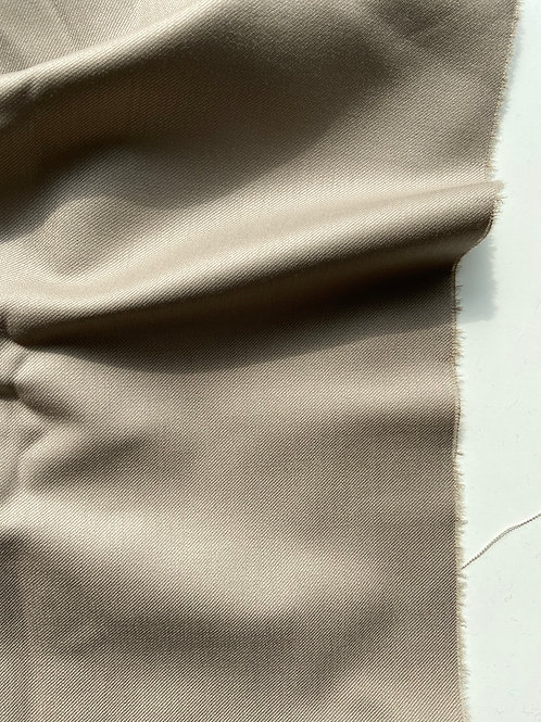 TAUPE ITALIAN WOOL WITH STRETCH PLAIN WOVEN