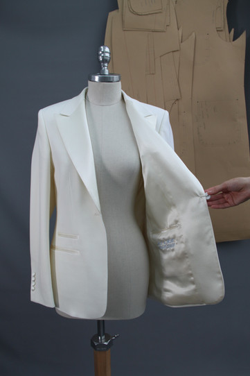 G&G Bridal Blazer with 'something blue' monogram of their initials