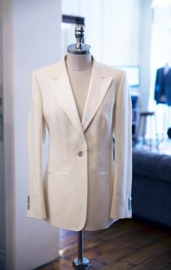 White silk tuxedo