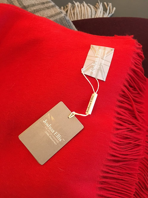 BRIGHT RED - CASHMERE BLANKET