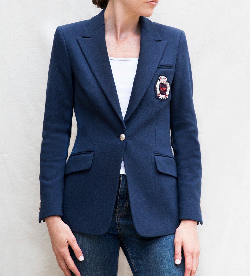 G&G Navy Cotton casual blazer