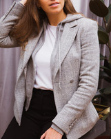 G&G Wool/Cashmere Blazer with a cashmere hoody