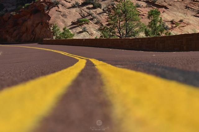 Roads in Zion National Park, Utah
