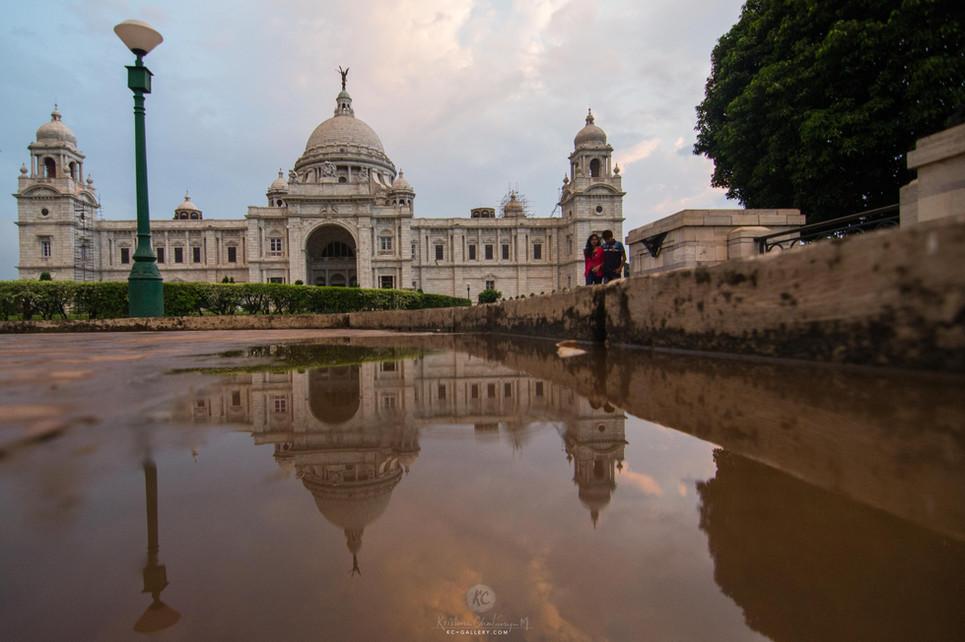 Victoria Memorial reflection