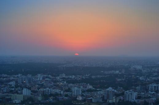Sunset over Jaipur City
