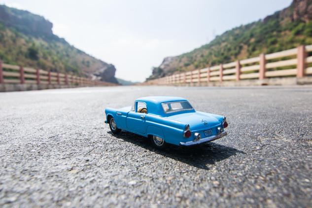 1955 Ford Thunderbird on the highways of Andhra Pradesh