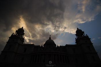 Silhouette of Victoria Memorial