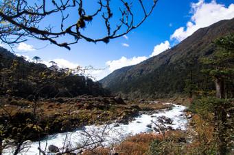 Streams among mountains