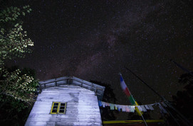 Clear night skies infront of Monastery - Tsokha