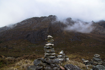Cairns, man-made pile of stones, to ensure you are on the right trail.