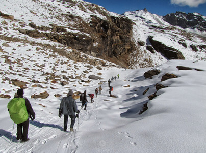 Crossing the Rupin pass