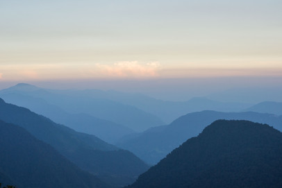 Mountain ranges towards West Bengal, our porter told us that Darjeeling is somewhere there.