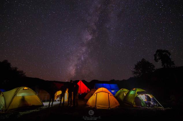 Milkyway above oour camp site on Goechala trek