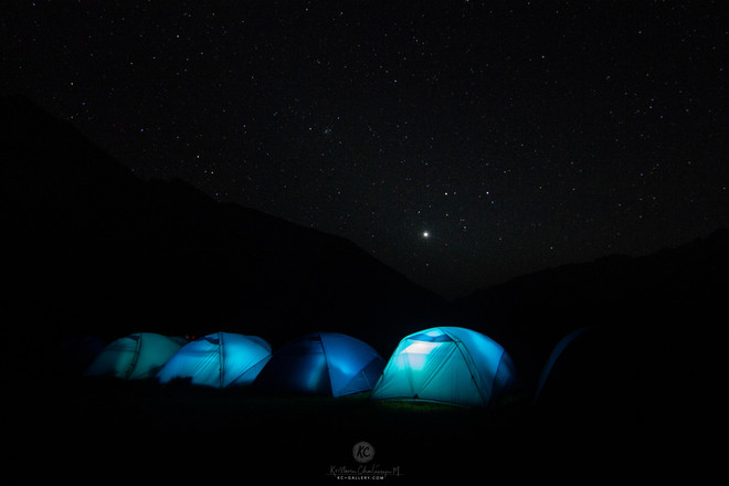 Night sky above our camp site in Bali Pass trek