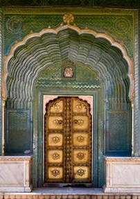 The famous Jaipur palace door