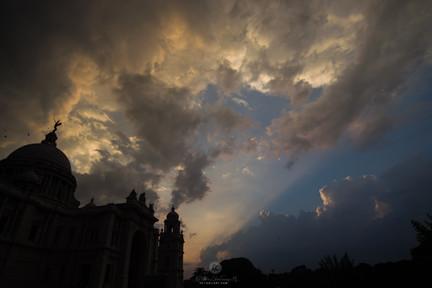 Victoria Memorial during Sunset