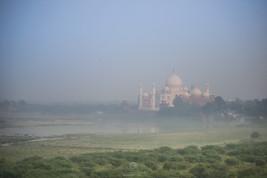 Taj Mahal as seen from Aga fort
