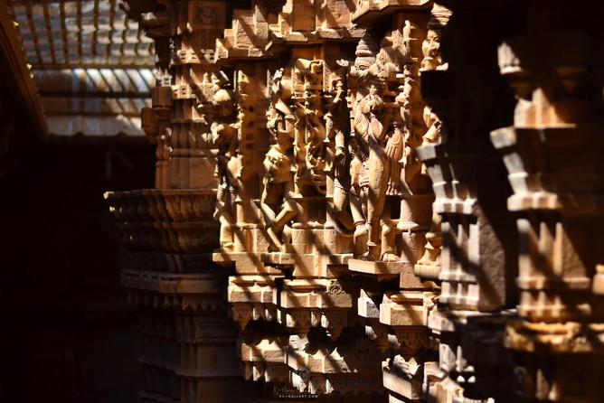 Jain temple walls inside Jaisalmer fort