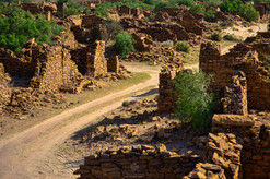 Empty streets of Kuldhara, an abanoned village