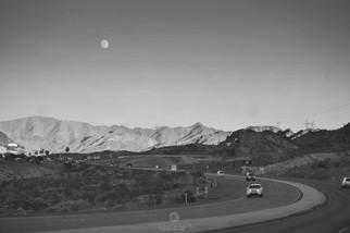 Moon Rise near Las Vegas
