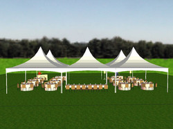 Five 20'x20' Square Tents