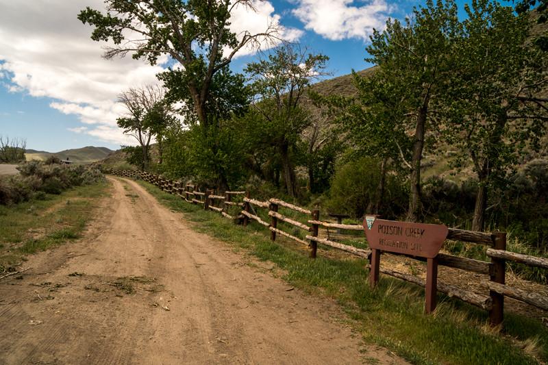 Poison Creek Recreation Site, Mud Flat Road