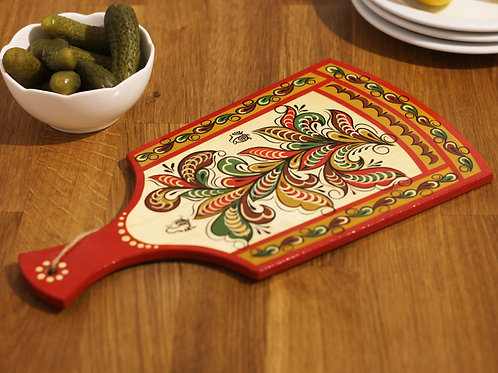 Leaf Swirls Hand painted Serving Board I
