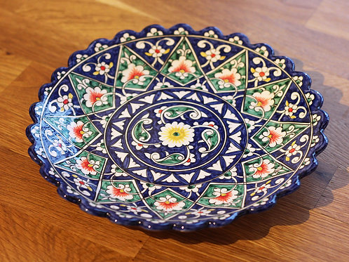 Blue hand-painted plate