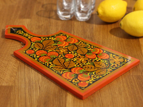 Gold & Red Berries Serving Board I