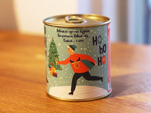Holidays socks in a can