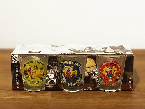 Funny Russian shot glasses - Set of 6